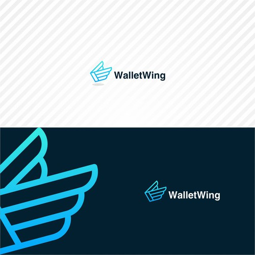 Wallet wing logo concept