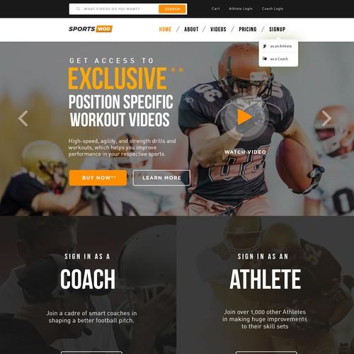 SportsWoD: Sports Video Training Website!