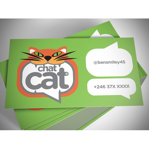 Create a cheeky cat's face logo for ChatCat.io