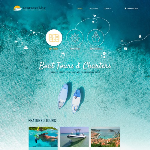 Creative website concept for a travel company