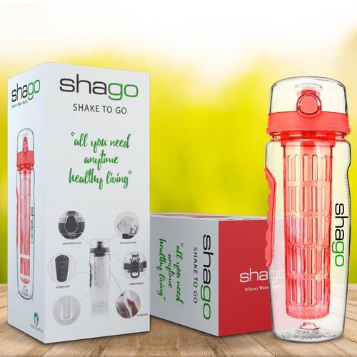 Shago Infusing Water Bottle