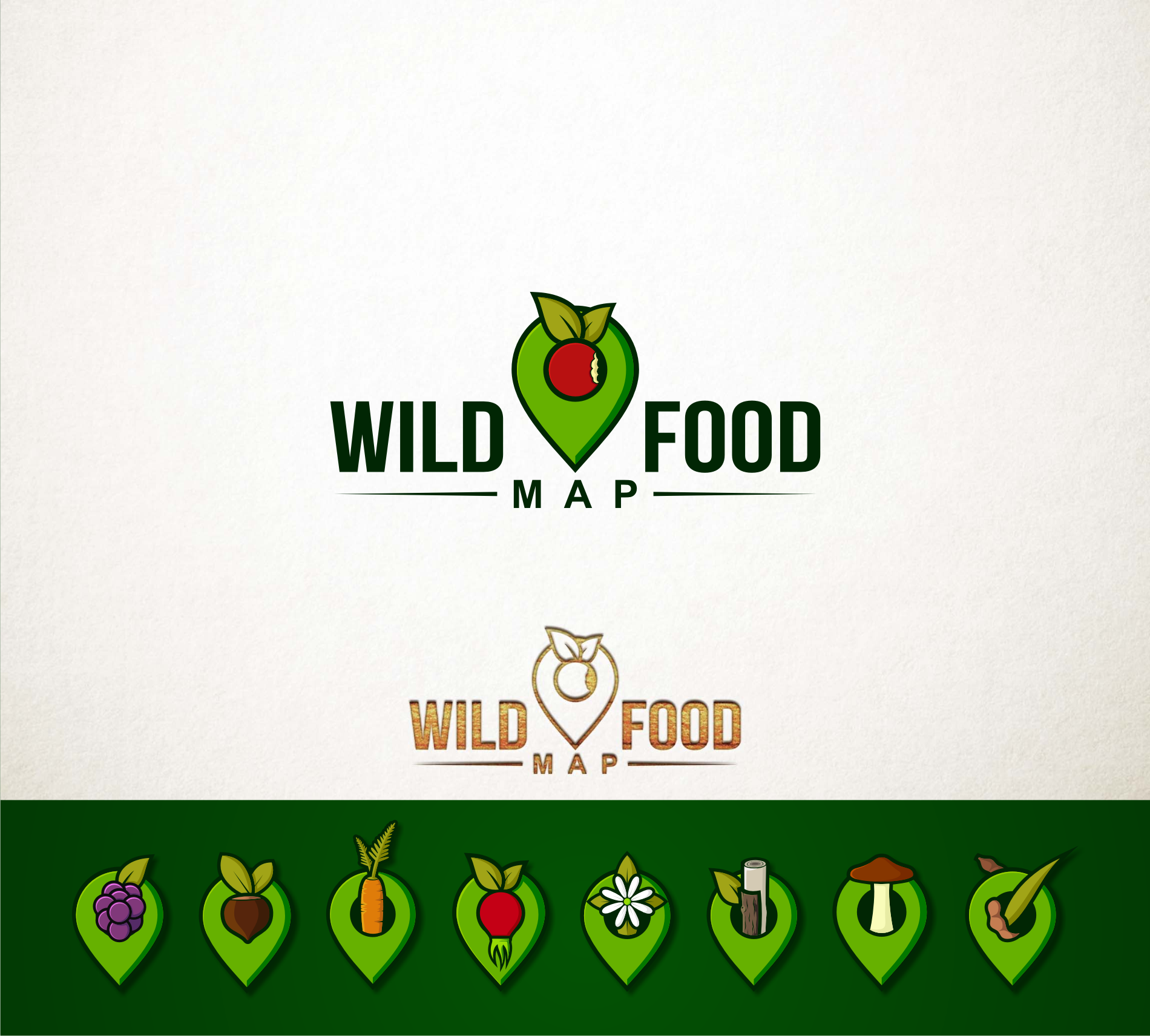 Create a logo for the Wild Food Mapping community!