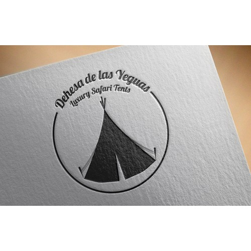 Simple logo for tent company