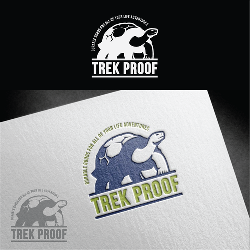 Logo design for Trek Proof, High Quality Durable Goods