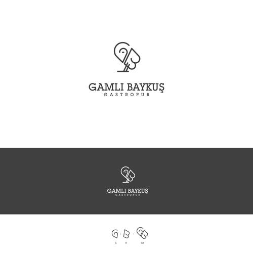 "Owl logo for ""Gamli Baykus"" Turkish Gastropub in Istanbul"