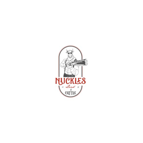 Hand drawing logo concept for NUCKLES