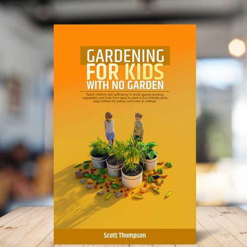 3d Book Cover, Gardening, kids