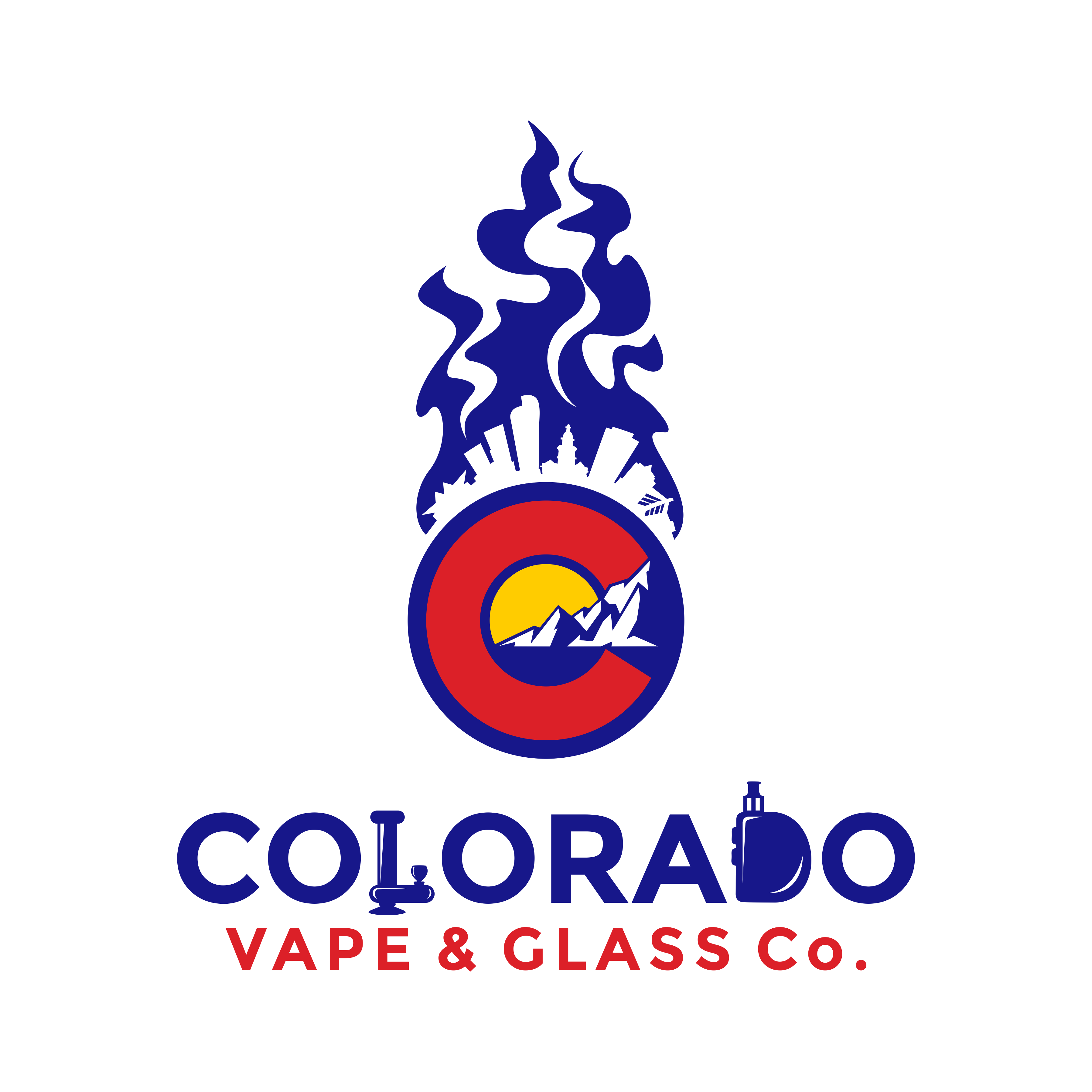 Create a Colorado-inspired vape and headshop logo for our new store!