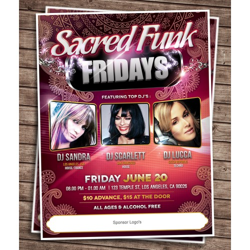 Poster for Sacred Funk Fridays