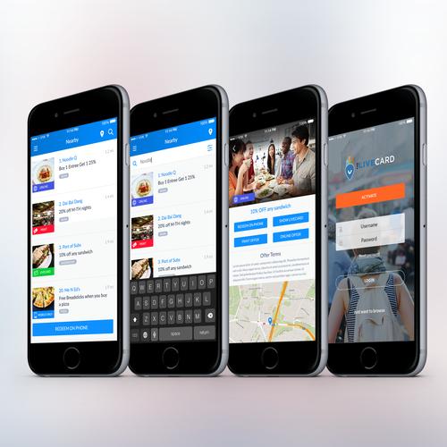 Discount Offers Finder App Design