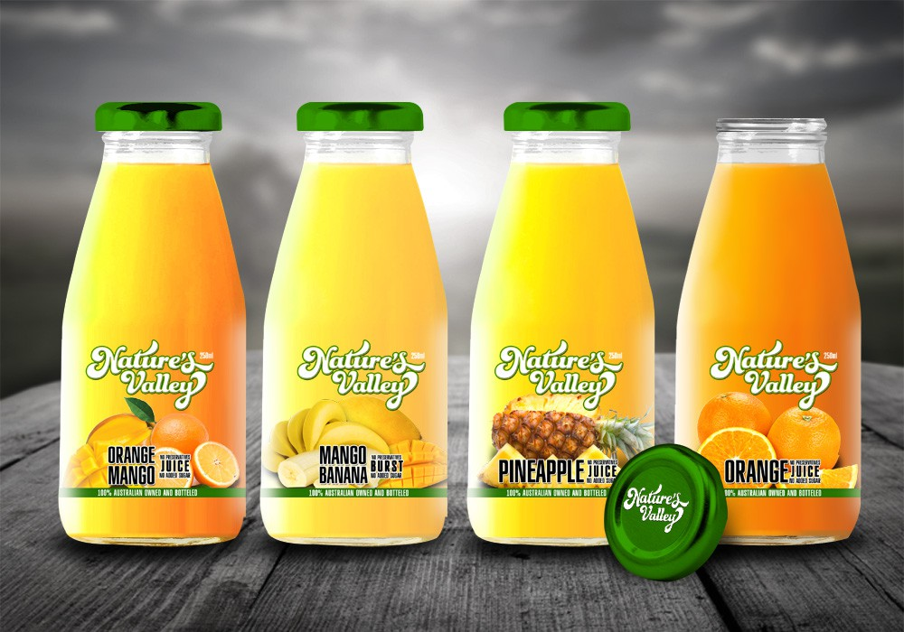 packaging or label design for Nature's Valley