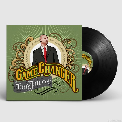 "CD Album Cover Design - ""Game Changer"" by artist Tony James"