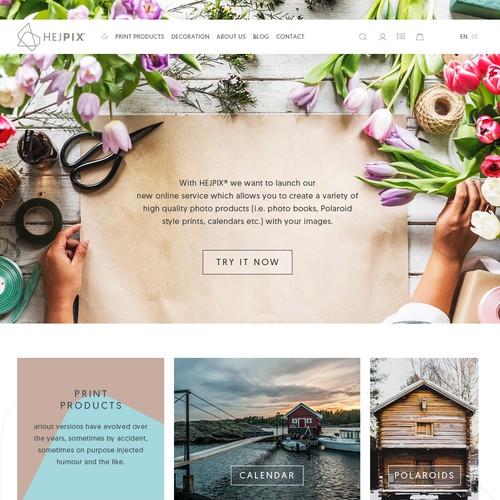 Responsive Web design for Hejpix