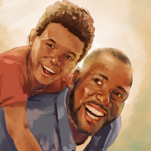 African American Fatherhood/Dad Illustrations