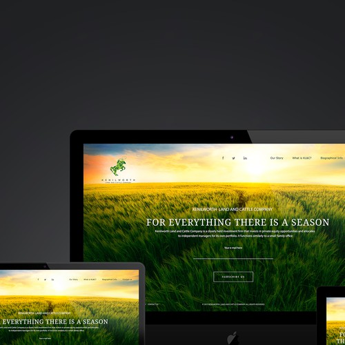 For Everything There Is A  Season. Kenilworth Land & Cattle Company Website Design
