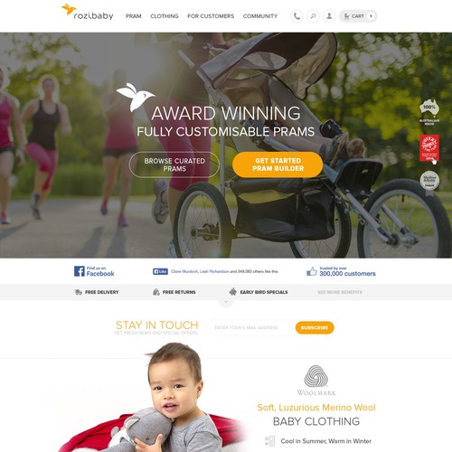 Creating a exceptional user experience for Rozibaby Online Pram Builder