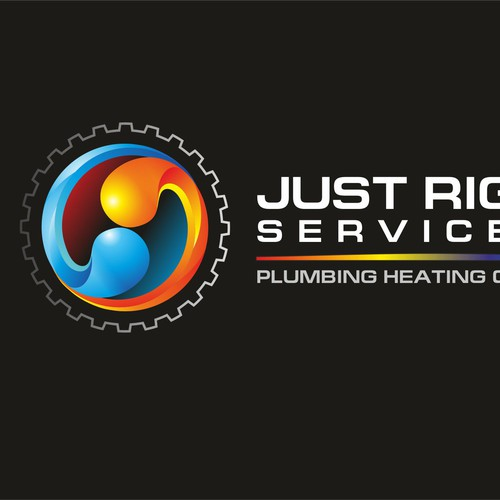 create logo for plumbing heating cooling company