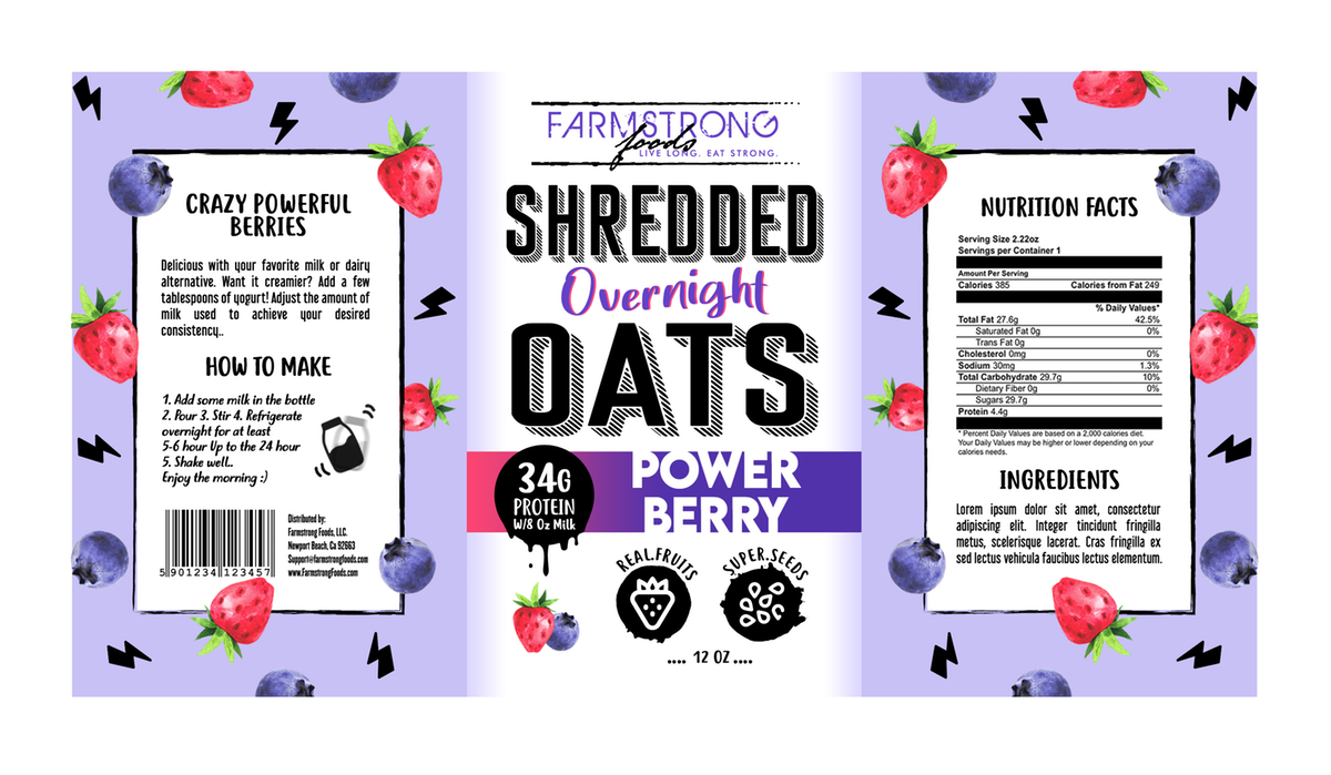 Fun Labels For Health Breakfast Product Line