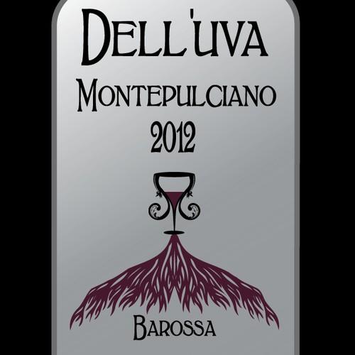 Wine label @@@design for Dell'uva Wines