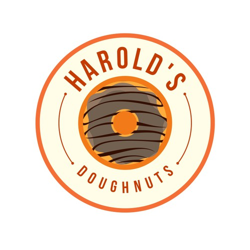 Design a sophisticated logo for a gourmet doughnut shop.