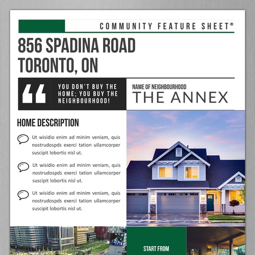 Design a Flyer for a Real Estate Project