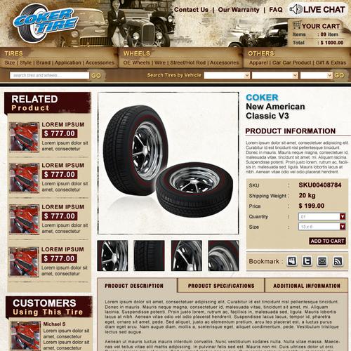 Antique tire store redesign
