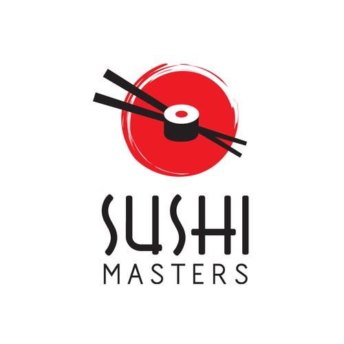 sushi masters logo design