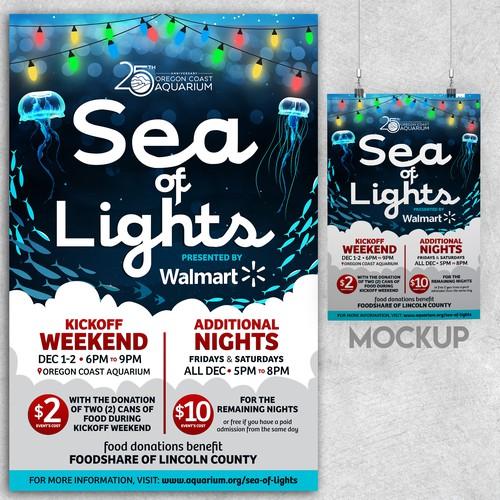 Poster design for Sea of Lights