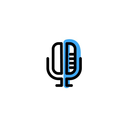 Logo concept for a podcast webpage