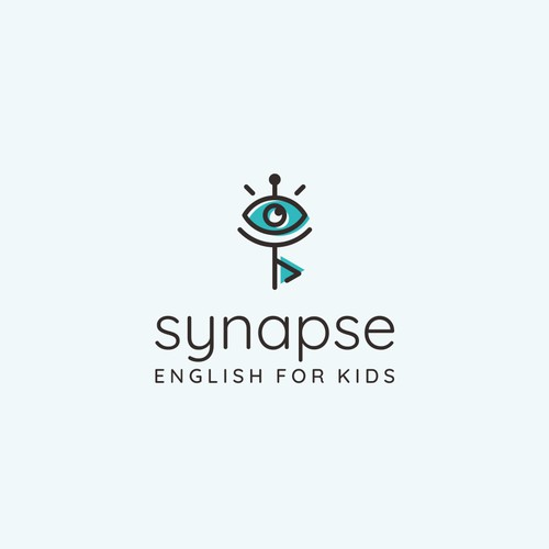 Cheerful logo for English education company: Synapse