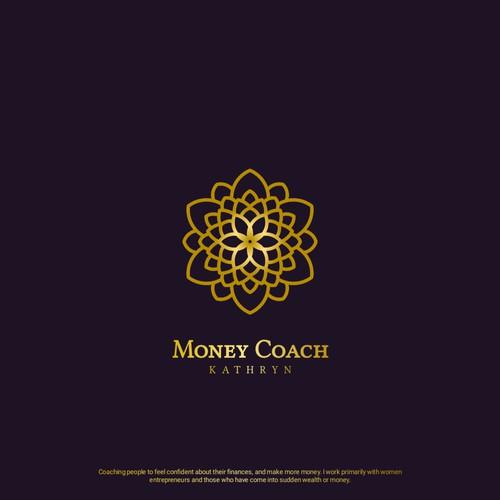 Mandala logo concept for Money Coach Kathryn