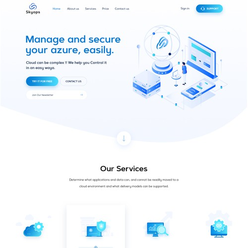 Skyops Website Design and Development