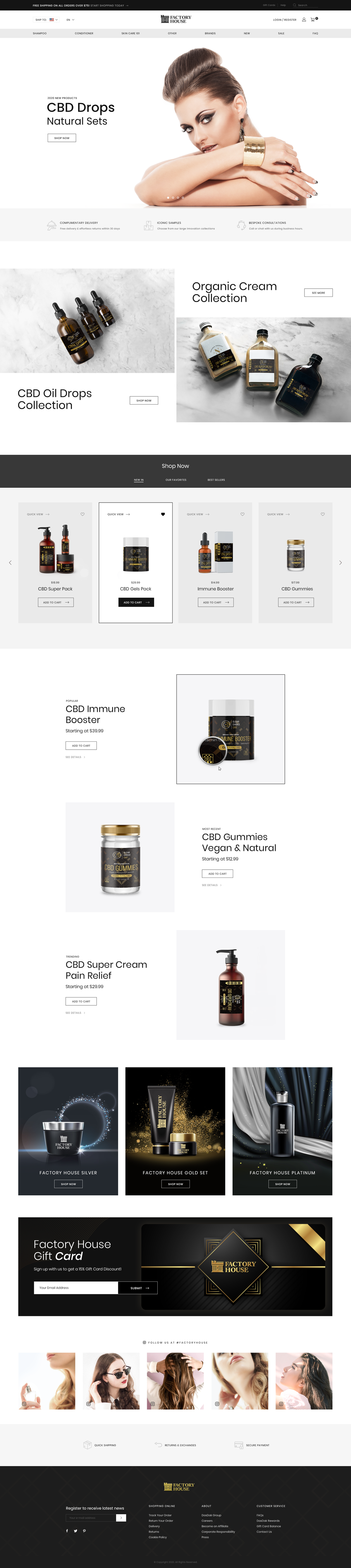 Design a sophisticated web-site for a new high-end Shampoo brand