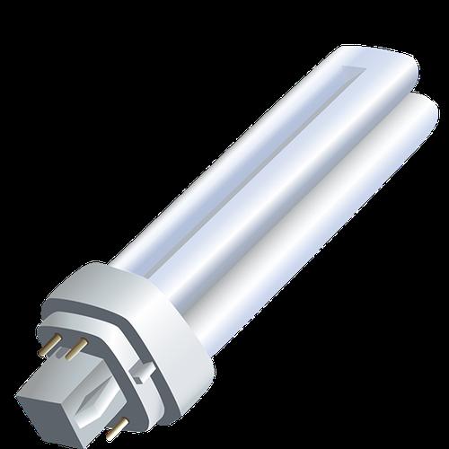 4 prong CFL bulb illustration