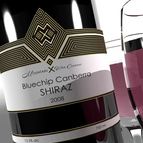 Mountain X Wine Label