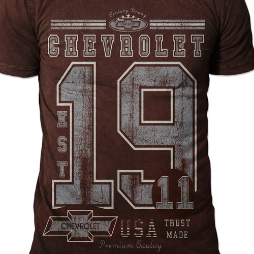 Create a simple, stylish CHEVROLET MENS TSHIRT design