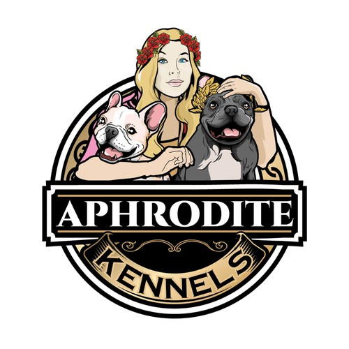 Design logo for French Bulldog breeder In Music City Aphrodite Kennels