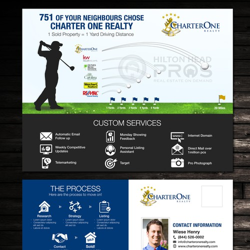 Sleek, Simple, Effective, and Polished direct mail piece for Charter One Realty