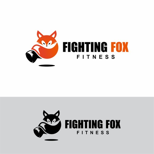 Logo design for Fighting Fox Fitness