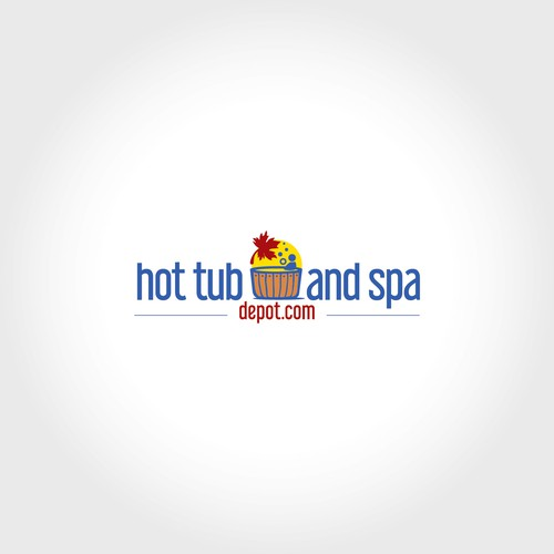 On-line hot tub supplies store logo design
