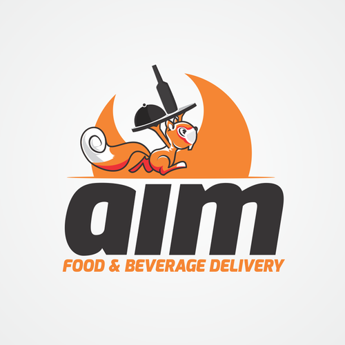 Aim food delivery logo