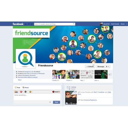 Exciting New Friend-sourcing Web/FB App Seeks Engaging Brand Vision: FB COVER IMAGE + PROFILE PIC