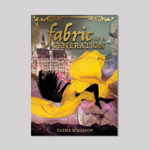 Book cover design for fantasy novel