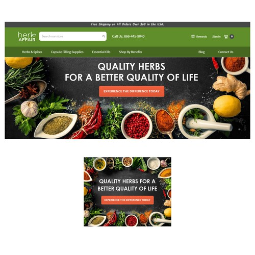 Create Eye Catching Homepage Banner for Health & Wellness Site