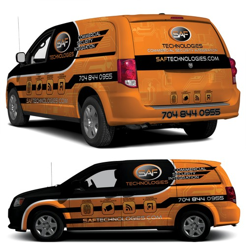 Vehicle Graphic Design for C/V Tradesman Vans