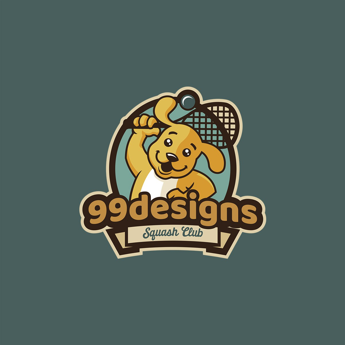 Custom logo design for sports/squash team