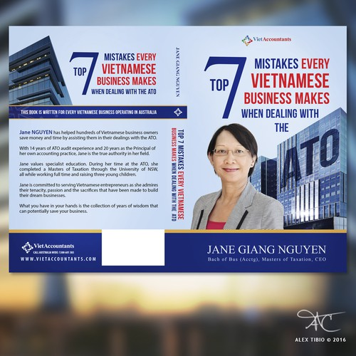 """Full cover design forTop 7 Mistakes Every Vietnamese Business makes when dealingh with the ATO."""""""