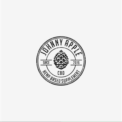 Vintage Logo for Johnny Apple CBD