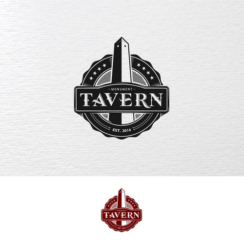 monument tavern badge logo