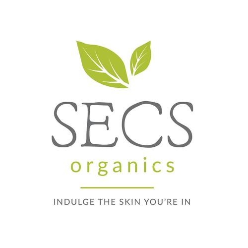 Logo for organic skincare brand